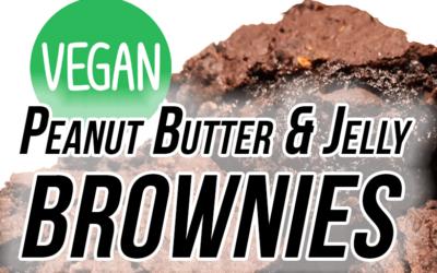 Ooey Gooey Vegan Peanut Butter & Jelly Brownies