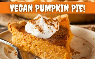 Vegan Halloween Pumpkin Pie