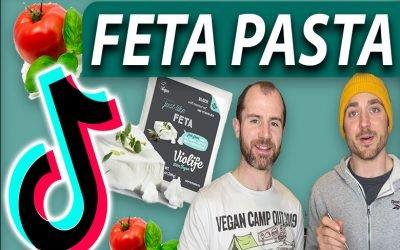 Tik Tok Feta Pasta Bake, Vegan Style!